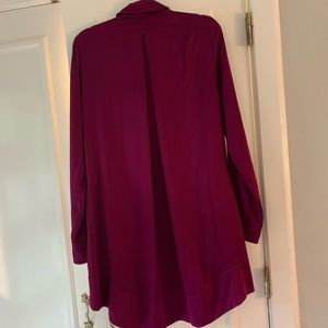 Free people silky purple shirt dress. Sz S